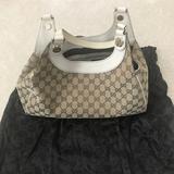Gucci Bags   Gucci Shoulder Bag In Canvas   Color: Tan   Size: Os