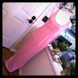 Victoria's Secret Dresses | Blush Pink Nwt Victorias Secret Sexy Maxi Dress | Color: Black/Pink | Size: M