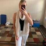 American Eagle Outfitters Accessories | American Eagle Scarf! Good Condition | Color: Tan/White | Size: Os