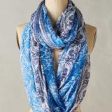 Anthropologie Accessories | Anthropologie Eldora Beaded Infinity Loop Scarf | Color: Blue | Size: Os