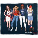 The Northwest Company Houston Texans Texan Fans Silk Touch Throw Blanket