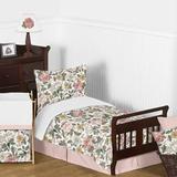 Sweet Jojo Designs Vintage Floral 5 Piece Toddler Bedding Set Polyester in Green/Pink/Yellow | Wayfair VintageFloral-PK-GR-Tod