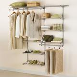 """Rubbermaid Commercial Products 36.25"""" W - 62.5"""" W Configurations Deluxe Custom Closet System Wire/Metal in Brown, Size 47.5 H x 12.0 D in   Wayfair"""