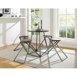 17 Stories Lundeen 5 Piece Counter Height Dining SetWood/Metal in Brown/Gray, Size 36.0 H x 30.0 W x 30.0 D in | Wayfair