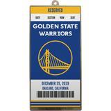 """Golden State Warriors Metal Ticket Ornament"""