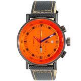 Quartz Orange Dial Mens Watch -80 - Orange - Adee Kaye Watches