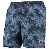 Men's Tommy Bahama Navy Virginia Cavaliers Faded Palms Swim Shorts