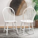 Safavieh Home Camden Farmhouse White Spindle Back Dining Chair, Set of 2