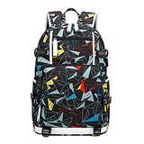 AGOWOO Men Women Teens Tie Dye High School Backpack Bookbag with USB Charging Port