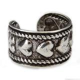 Hearts Ear Cuff Earring Silver No Piercing Clip On Heart