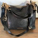 Michael Kors Bags | Black Leather With Gold Chain Michael Kors Handbag | Color: Black | Size: Os