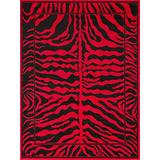 "Zebra Print Rug Contemporary Area Rugs Zebra Rugs Large Zebra Rugs for Living Room Animal Print Rugs (5' 3"" X 7' 5"")"