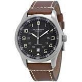 Swiss Army Airboss Automatic Black Dial Watch - Metallic - Victorinox Watches