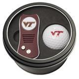 Virginia Tech Hokies Divot Tool & Golf Ball Personalized Tin Gift Set