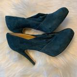 Nine West Shoes | Beautiful Hunter Green Suede Pumps | Color: Green | Size: 7