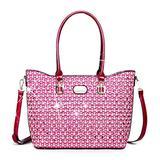 Brangio Italy | 100% Vegan Leather Galaxy Stars Designer Tote Bag for Women