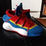 Adidas Shoes | Adidas Marvel Pro Vision Basketball Shoes | Color: Blue/Red | Size: 5.5b