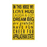 Fan Creations Gold NCAA Appalachian State Mountaineers 11 in x 19 in In This House Sign