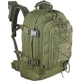Paladins Backpack Large Work Backpack Military Camo Backpack Molle System Waterproof for Men (Light-Green)