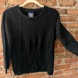 Polo By Ralph Lauren Sweaters   Black Cable Ralph Lauren Polo Crewneck Sweater   Color: Black   Size: Xl