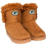 """""""Women's FOCO Brown Green Bay Packers Faux Fur Boots"""""""