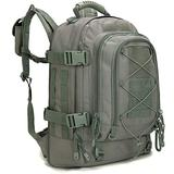 Paladins Backpack Large Work Backpack Military Camo Backpack Molle System Waterproof for Men (Shallow Grenn Ash)