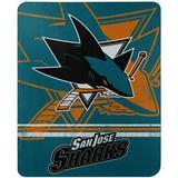 The Northwest Company San Jose Sharks 50'' x 60'' Fade Away Fleece Throw Blanket