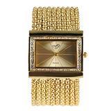 Unique Square Bracelet Watch for Women, Fashion Diamond Bracelet Watches for Female, Luxury Gold Bracelet Watch for Girls
