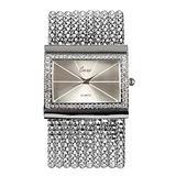 Unique Square Bracelet Watch for Women, Fashion Diamond Bracelet Watches for Female, Luxury Silver Bracelet Watch for Girls