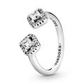 925er Silber Ring Quadrate mit Zirkonia