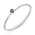Ring für Damen aus 14K Gold mit Saphir