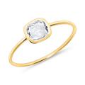 Weißtopas Ring für Damen aus 585er Gold