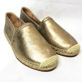 Coach Shoes | Coach Casey Metallic Espadrilles | Color: Gold | Size: 9