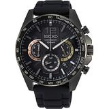 Seiko Quartz Watch SSB349P1 - Rubber Gents Quartz Chronograph