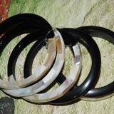 Anthropologie Jewelry | Anthropologie Abalone Bracelet Set | Color: Black/Cream | Size: Os