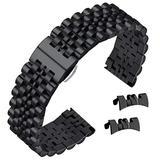 Solid Stainless Steel Bracelets 22mm Wrist Watch Band Strap for Men Women