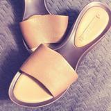 Nine West Shoes   3$25 Nine West Peep Toe Platform Wedge Sandals   Color: Gold   Size: 6.5