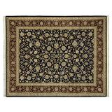 Gertmenian Handknotted Wool Rug Heirloom Collection Plush Persian Oriental Carpet, Large 8x10 and Up, Black