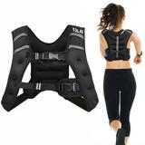 Costway Training Weight Vest Workout Equipment with Adjustable Buckles and Mesh Bag-12 lbs