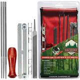 Chainsaw Sharpener File Kit – Flat, 5/32, 3/16, 7/32 Inch Round Files, Raker Tooth Depth Gauge, Blade Filing Guide, Wood Handle & Tool Pouch – Used to Sharpen Chain Saw Teeth - 8 Piece Sharpening Set