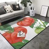 """Tomato Fruit Print Area Rug Carpet Contemporary Rugs Living Room Dining Area Rugs Bedroom Rugs Office Rugs Modern Area Rug 80"""" X 58"""""""