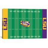 """iCanvas LSU Tigers Tiger Stadium Football Field Canvas Print"""