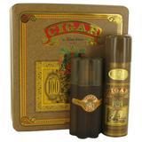 Cigar For Men By Remy Latour Gift Set - 3.3 Oz Eau De Toilette Spray + 6.6 Oz Deodorant --