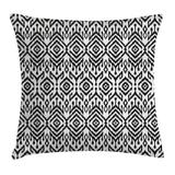 """East Urban Home Indoor/Outdoor Damask 28"""" Throw Pillow Cover Polyester/Polyester blend in Black, Size 28.0 H x 28.0 W x 0.1 D in   Wayfair"""
