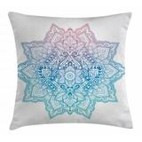 """East Urban Home Indoor/Outdoor Damask 26"""" Throw Pillow Cover Polyester/Polyester blend in Black, Size 26.0 H x 26.0 W x 0.1 D in   Wayfair"""