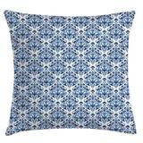 """East Urban Home Indoor/Outdoor Damask 40"""" Throw Pillow Cover Polyester/Polyester blend in Black, Size 40.0 H x 40.0 W x 0.1 D in   Wayfair"""