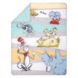Trend Lab Dr. Seuss Book Club 4 Piece Crib Bedding Set Cotton Blend in Blue/Gray/Green, Size 45.0 W in   Wayfair 30012