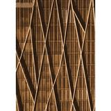 East Urban Home Striped Rug Polyester/Wool in Brown, Size 48.0 H x 48.0 W x 0.35 D in   Wayfair 5FBB7D631E534D2A9D33D2109B576DD6