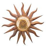 Regal Art & Gift Rainbow Sun Wall Decor Metal in Brown, Size 36.0 H x 36.0 W x 2.0 D in   Wayfair 20464