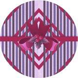 East Urban Home Striped Purple/Area Rug Polyester/Wool in Red, Size 48.0 H x 48.0 W x 0.35 D in | Wayfair F3A582EAB6784A72A0859DB1625B0B9B